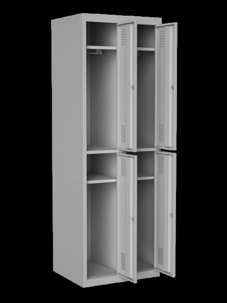 Шкаф одежный на 4 отделения, размер 1800х600х500