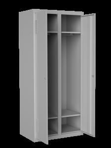 Шкаф одежный двойноП4 нижней полкой, размер 1800х800х500