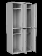 Шкаф одежный на 4 отделения, размер 1800х800х500